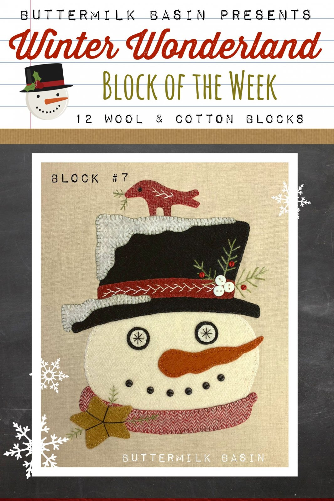 Winter Wonderland Block #7 *Kit & Pattern