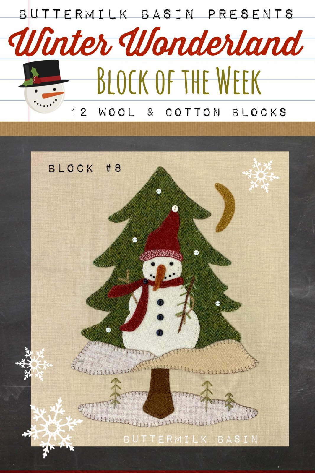 Winter Wonderland Block #8 *Kit & Pattern