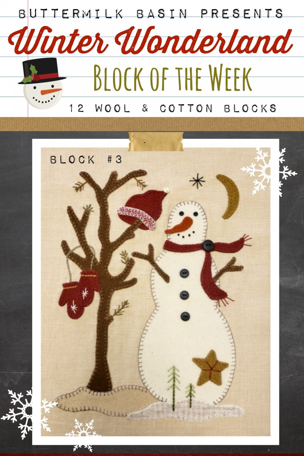 Winter Wonderland Block #3 *Kit & Pattern