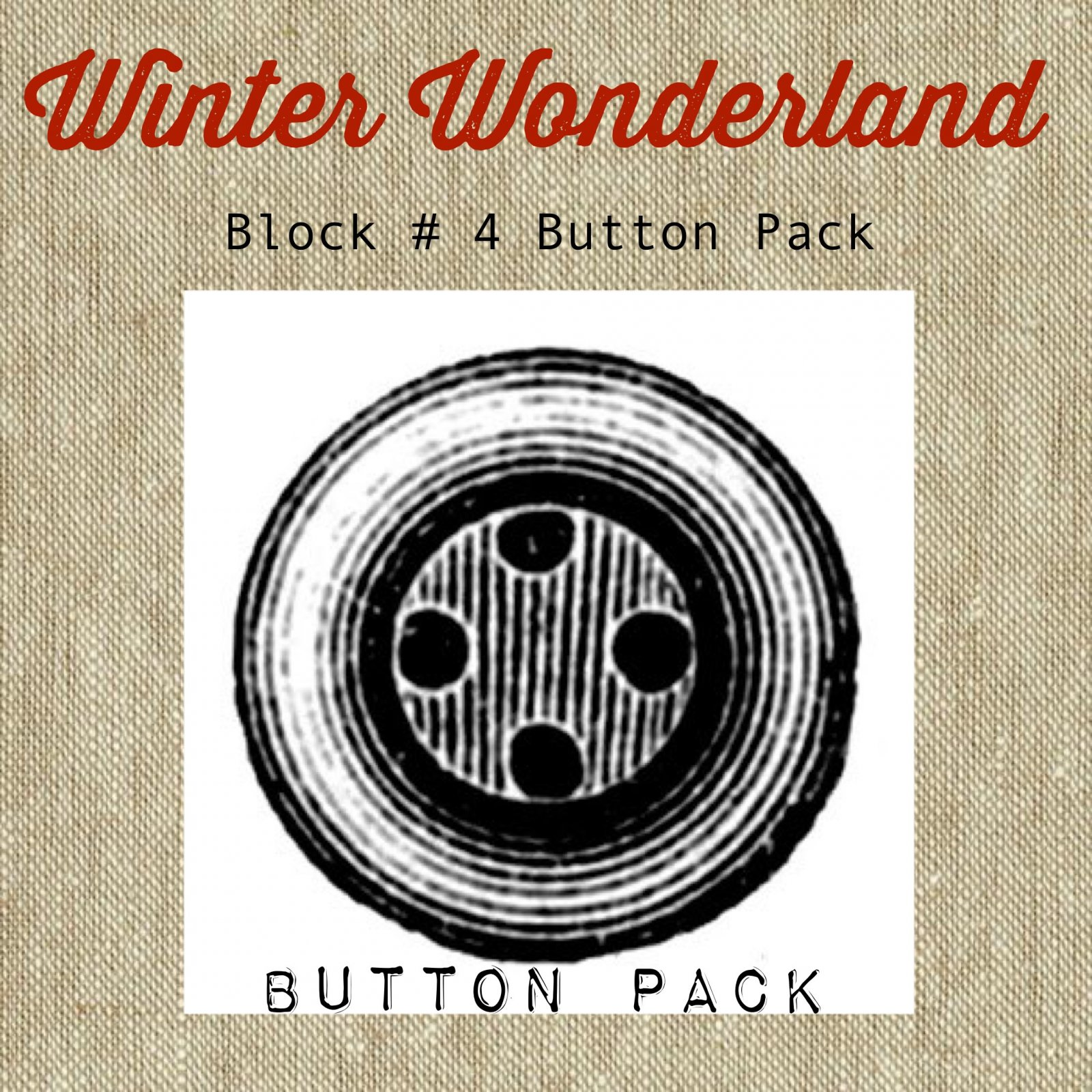 Winter Wonderland Block #4 Button Pack