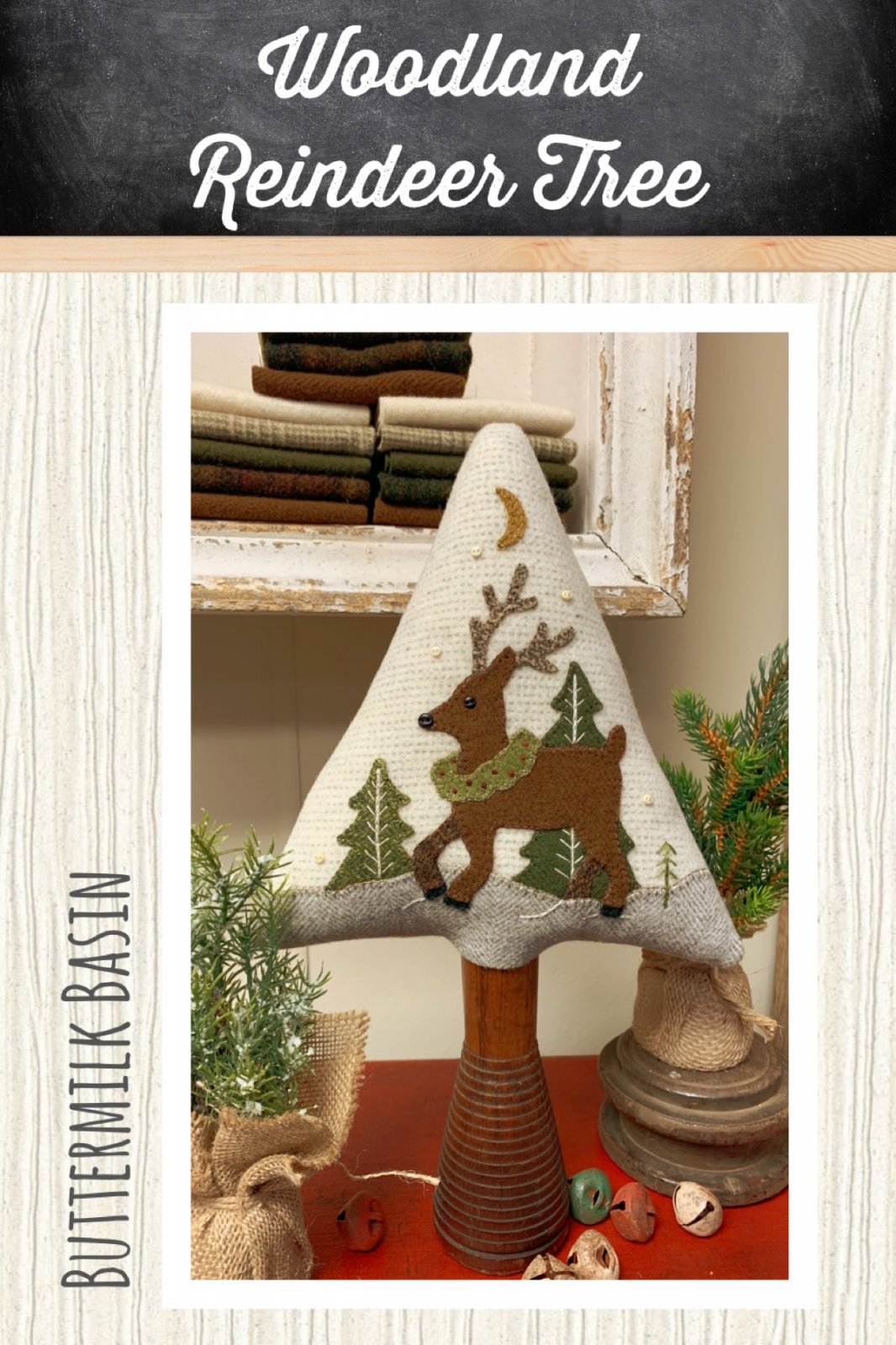 Woodland Reindeer Tree *Kit & Pattern