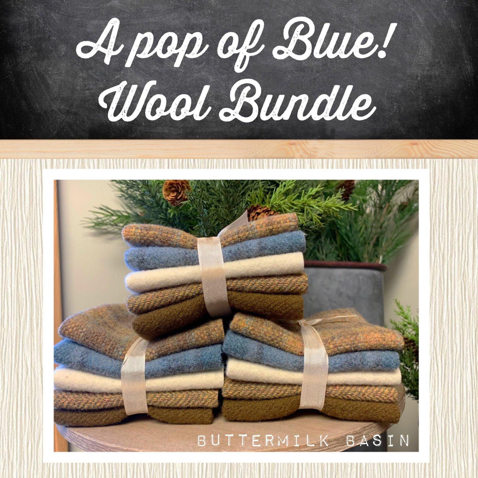 A Pop of Blue! Wool Bundle
