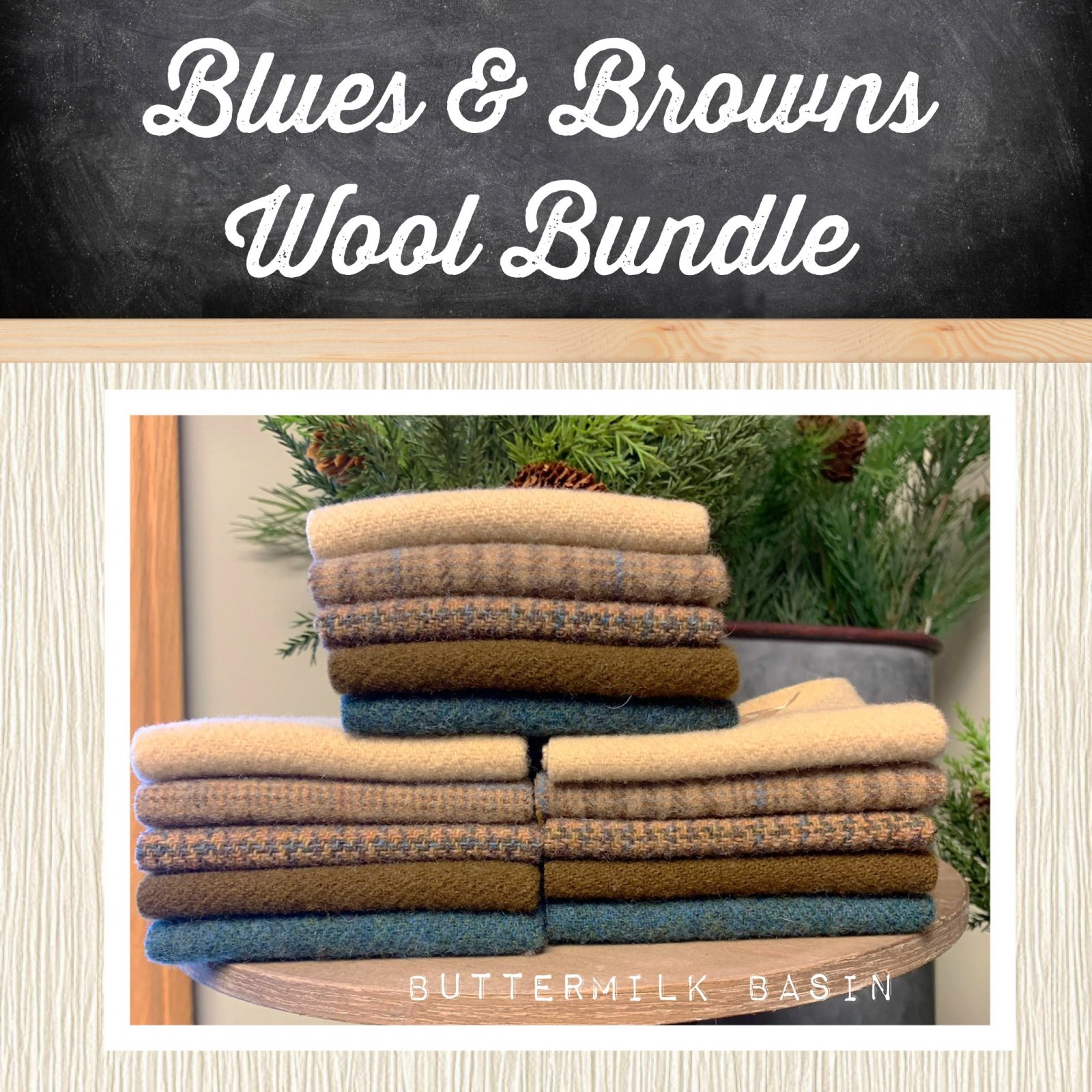 Blues & Browns Wool Bundle