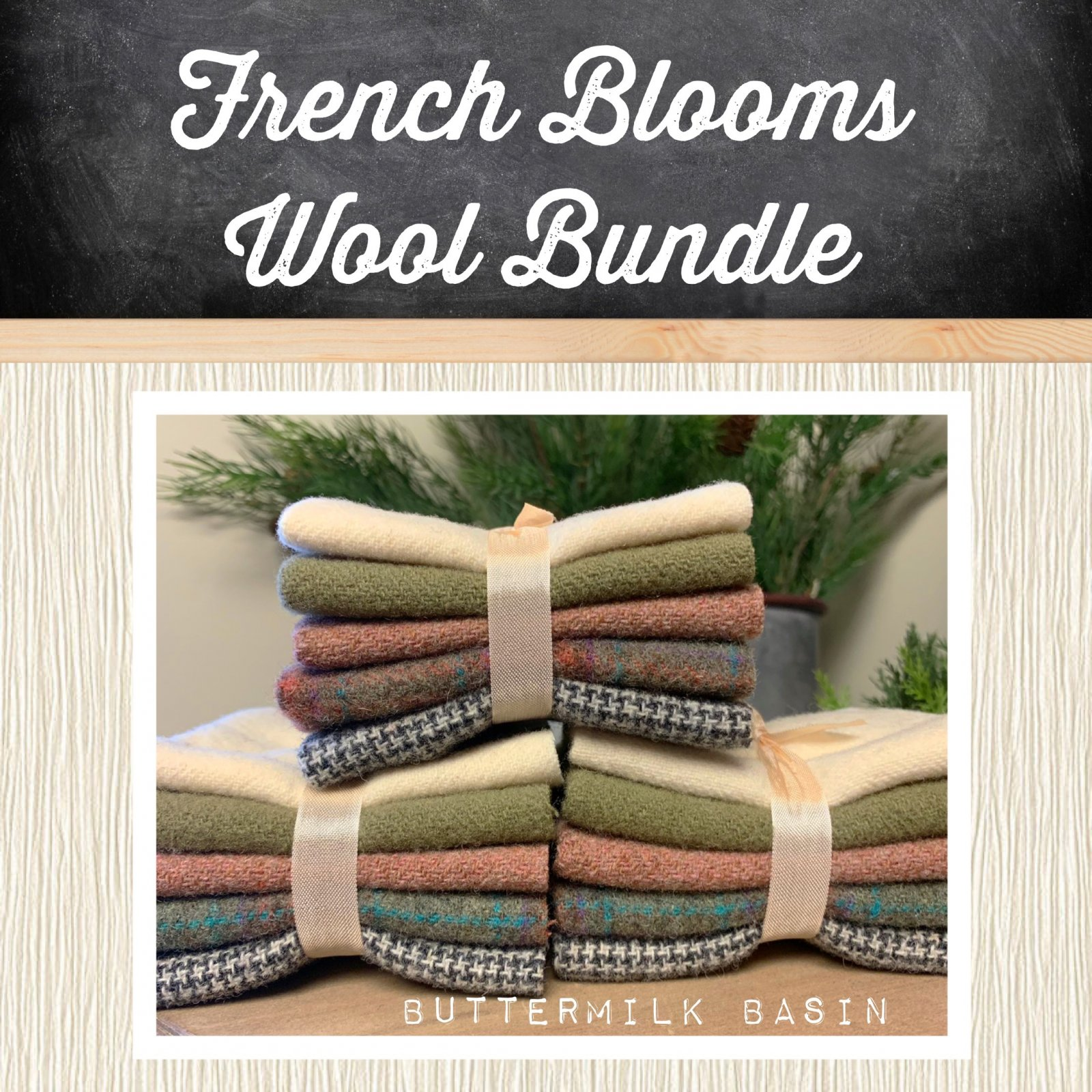 French Blooms Wool Bundle
