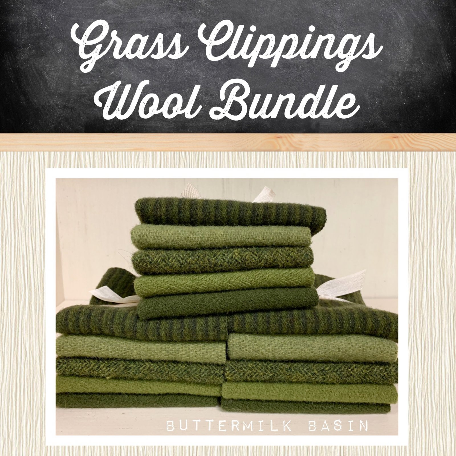 Grass Clippings Wool Bundle