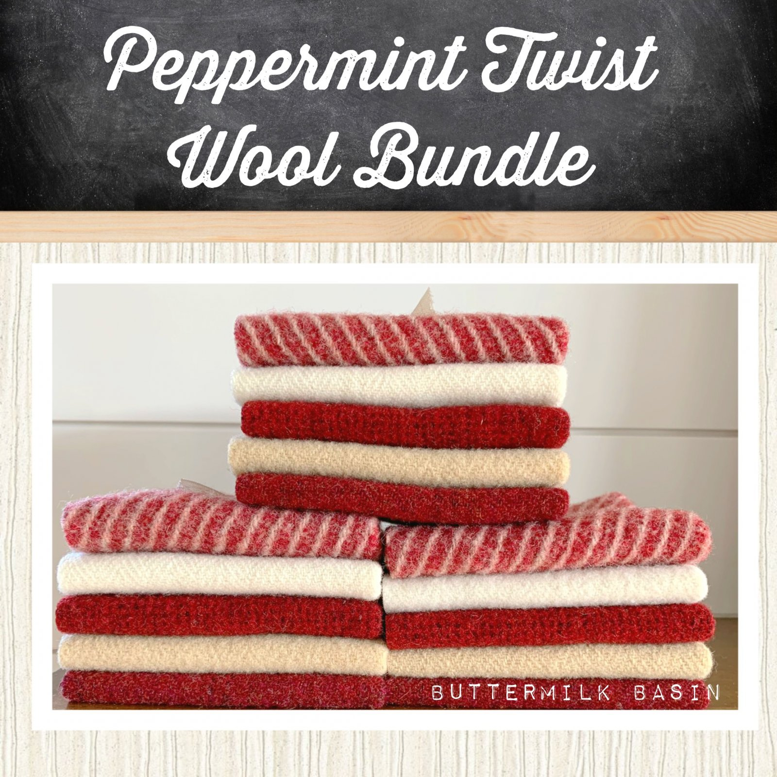 Peppermint Twist Wool Bundle