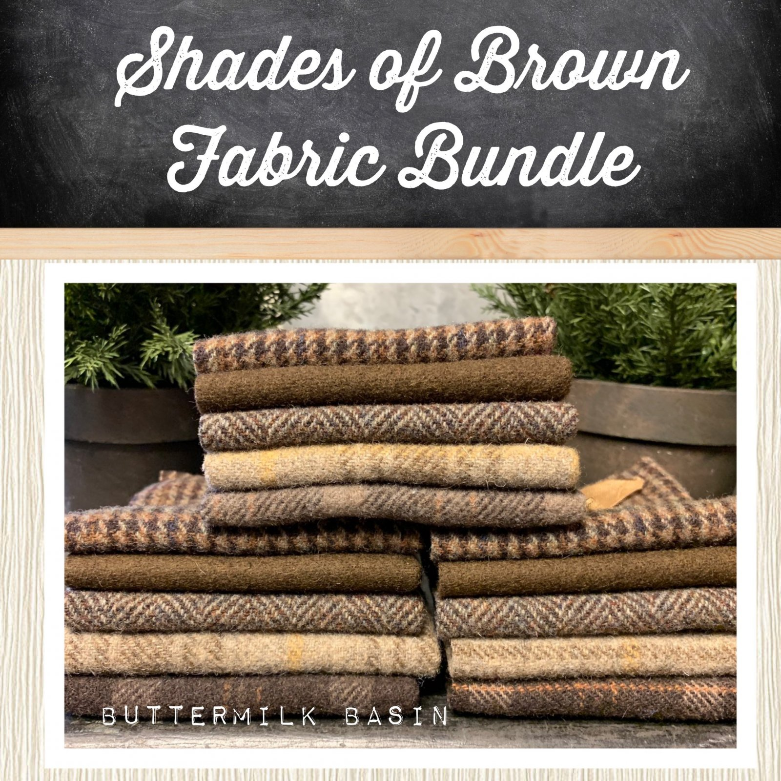 Shades of Brown Wool Bundle