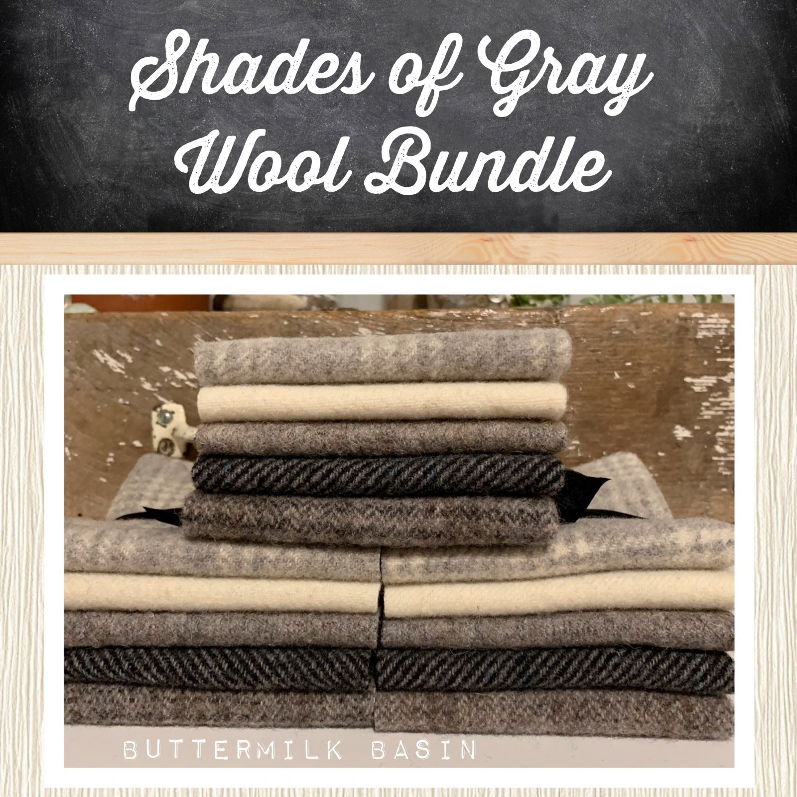Shades of Gray Wool Bundle
