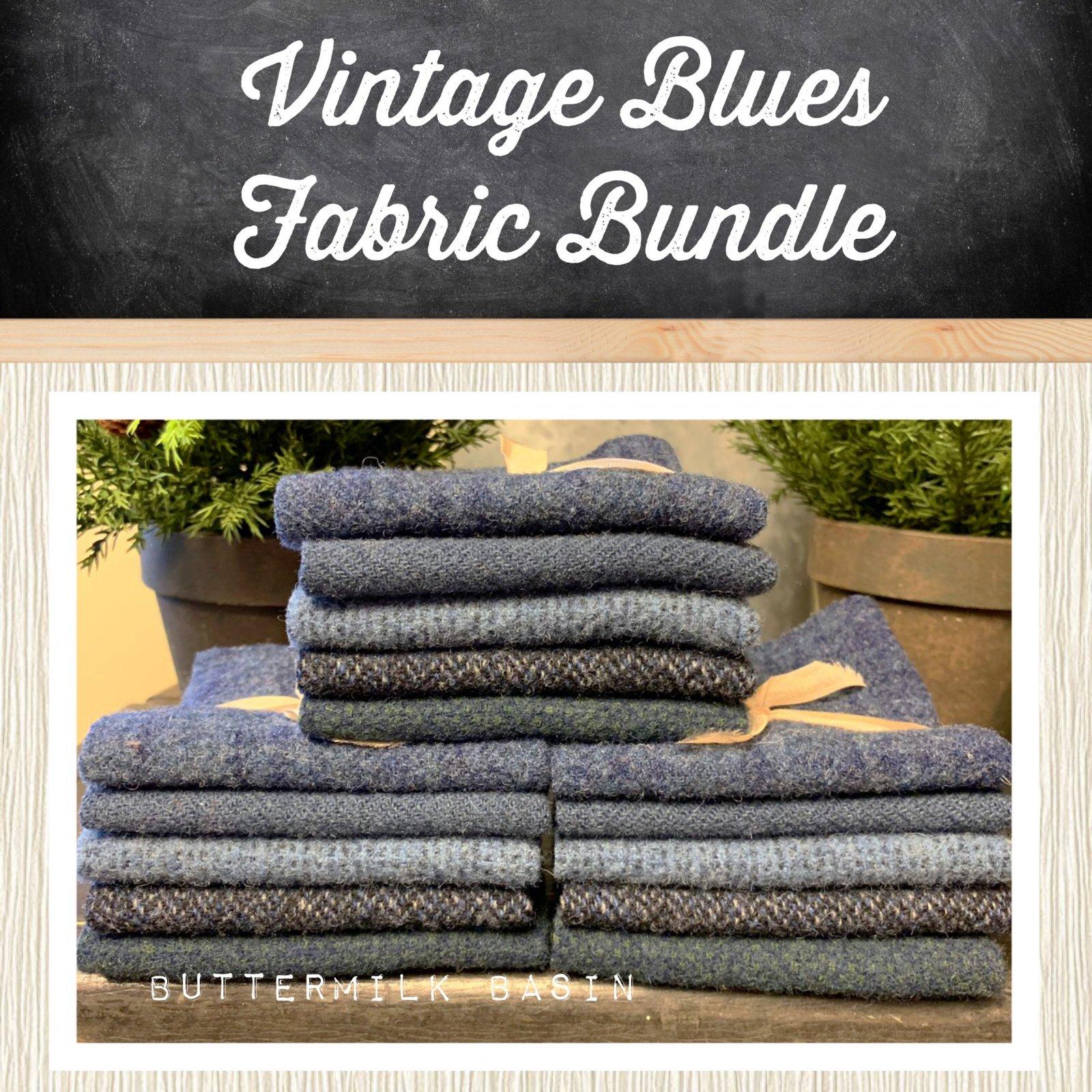 Vintage Blues Wool Bundle