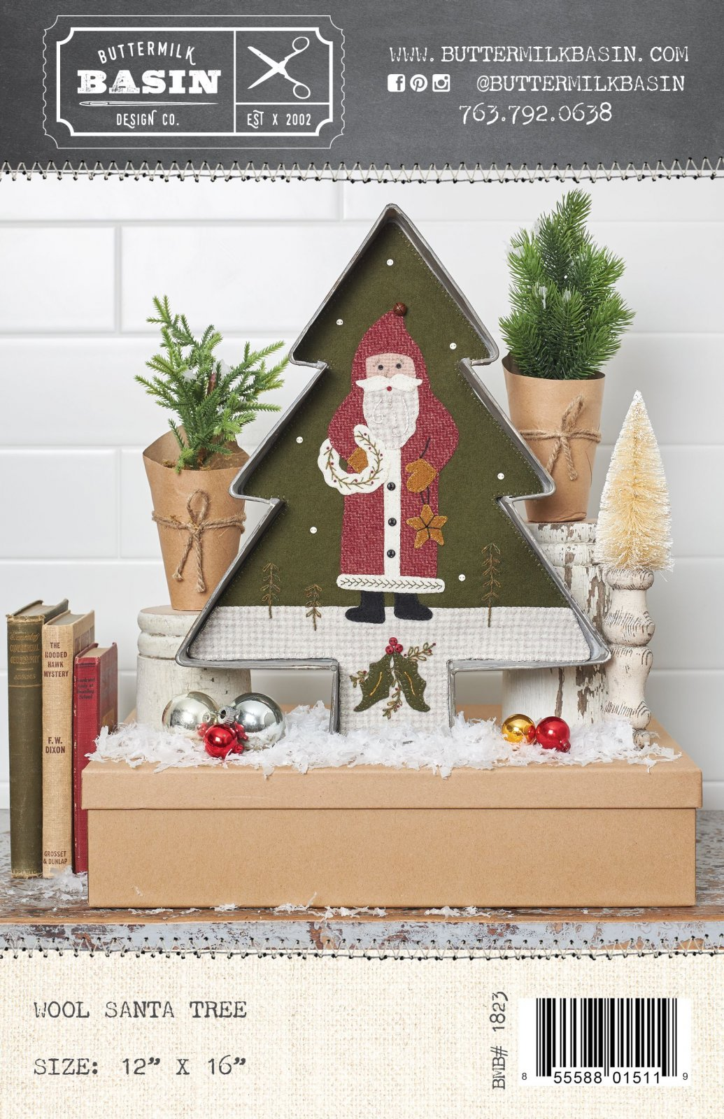 Wool Santa Tree * Pattern