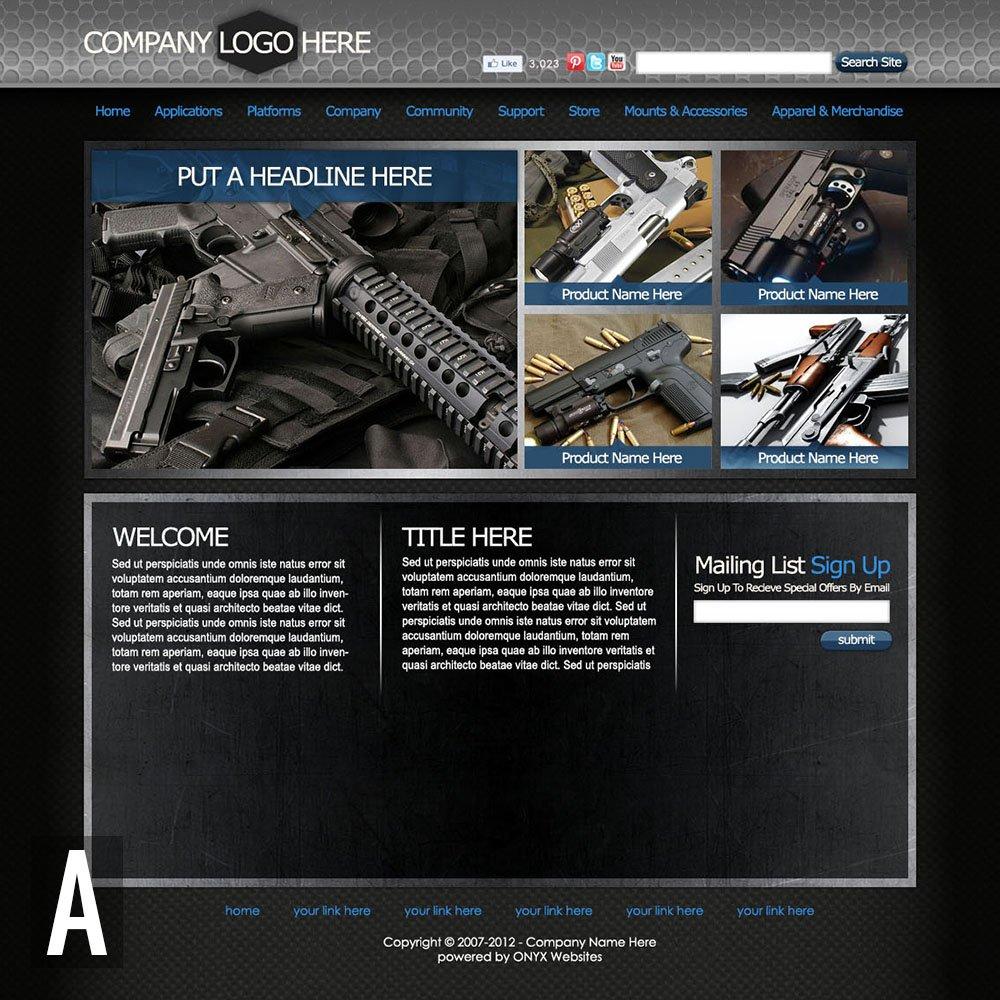 Gun Store Website Templates
