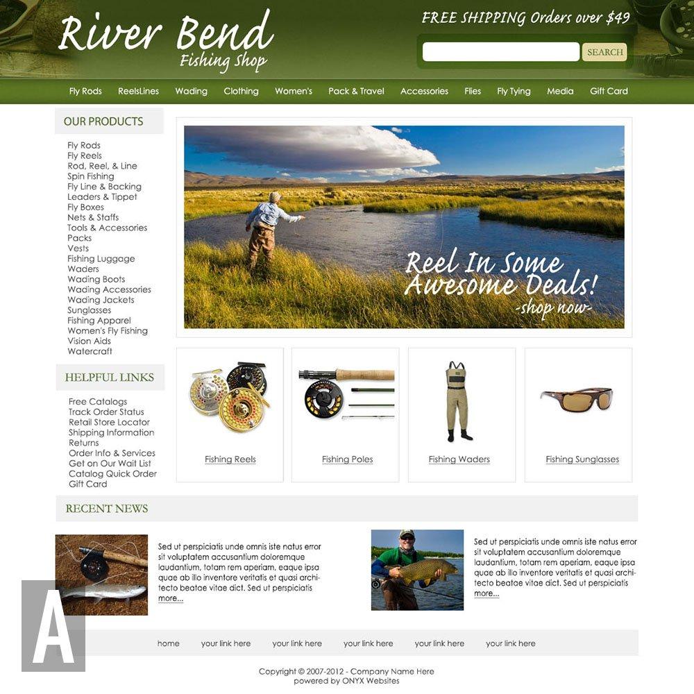 Fishing website templates maxwellsz