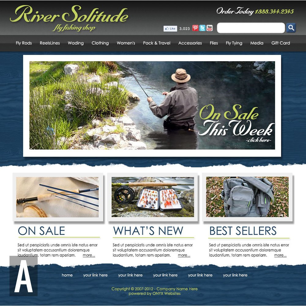 Fishing Website Templates