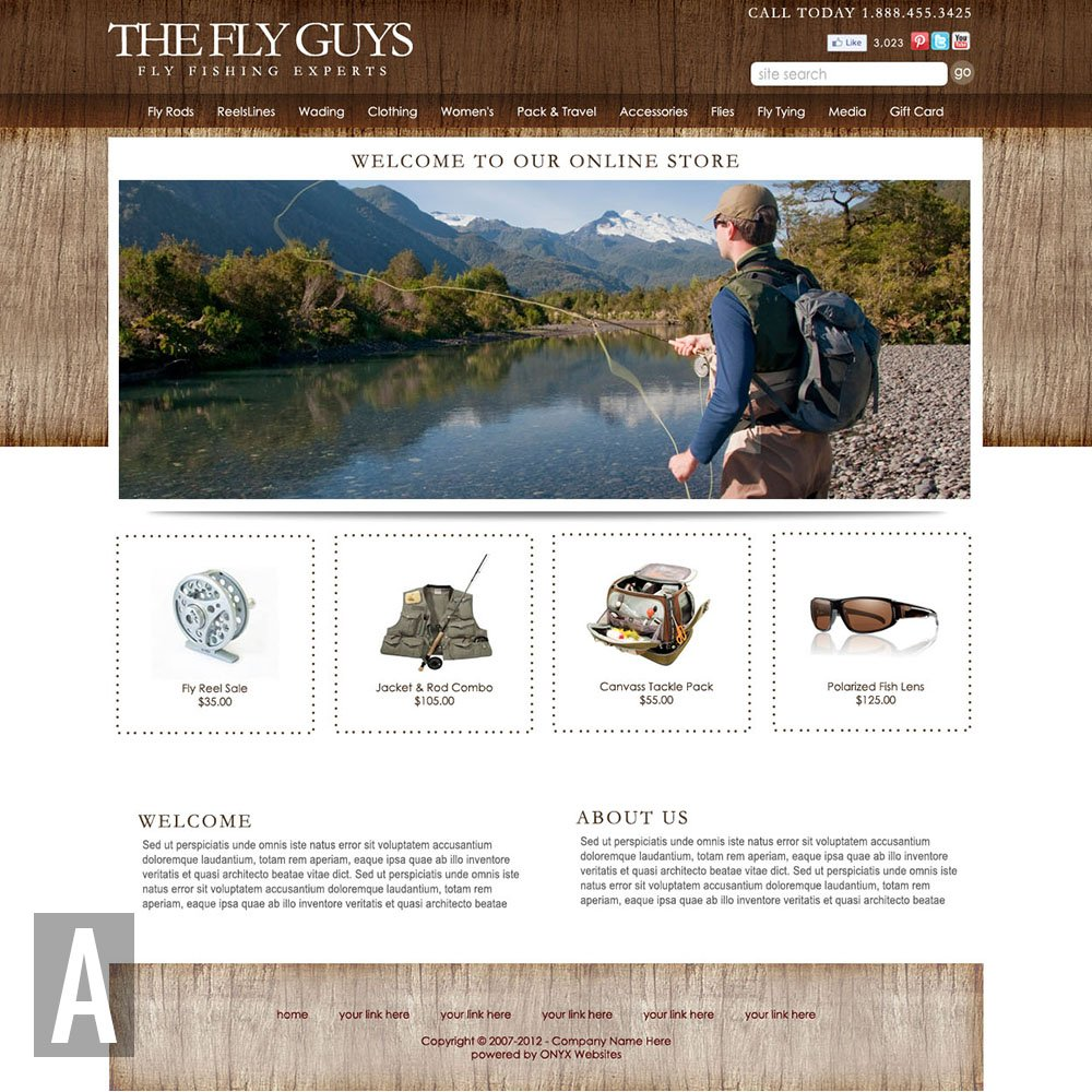 Fishing website templates maxwellsz