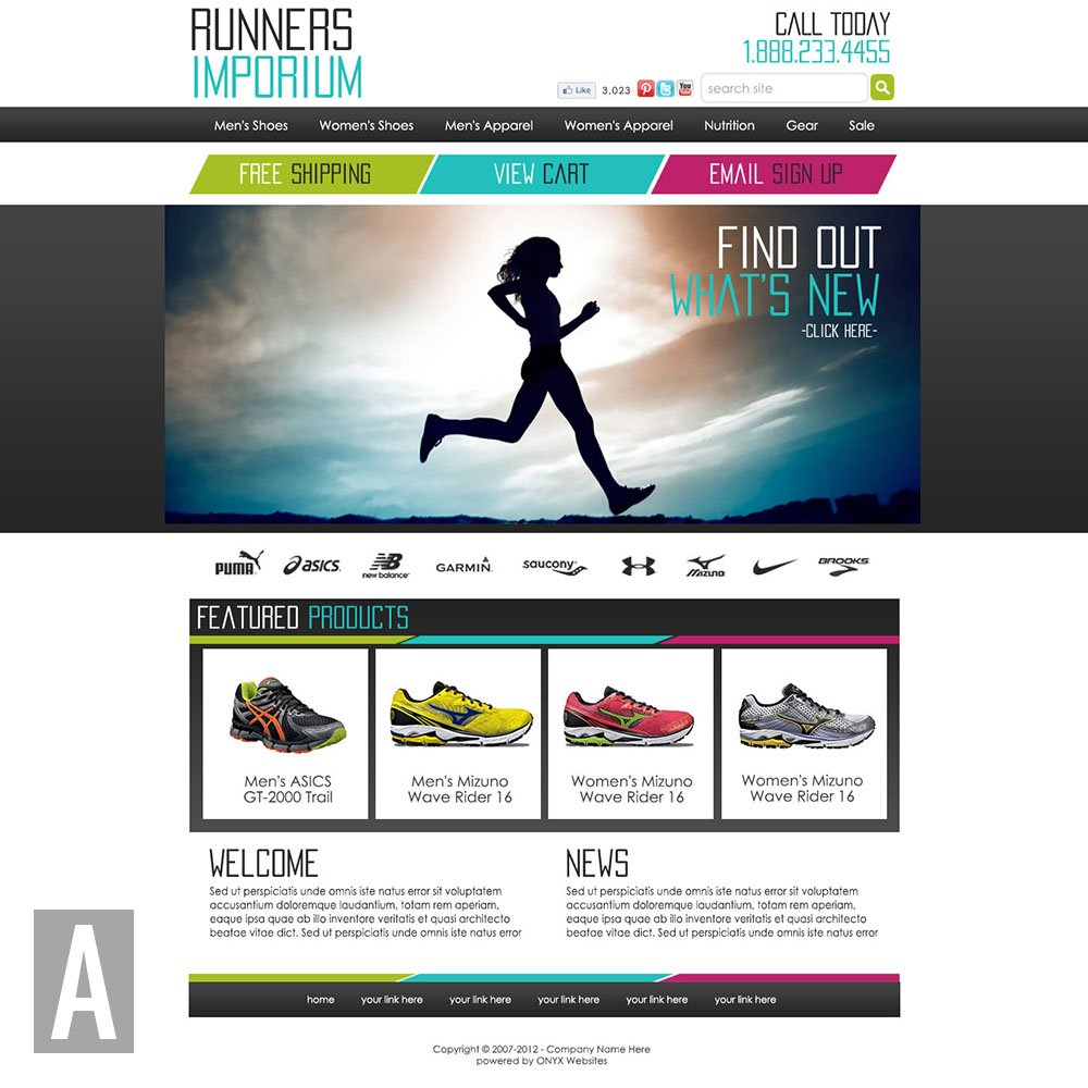 Running Website Templates