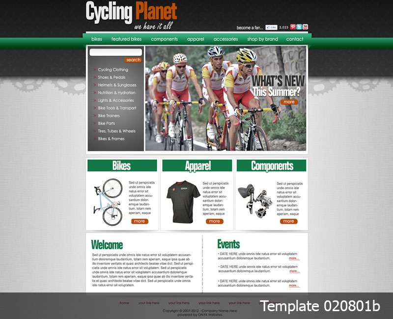 Bike Shop Website Templates | Rain Retail