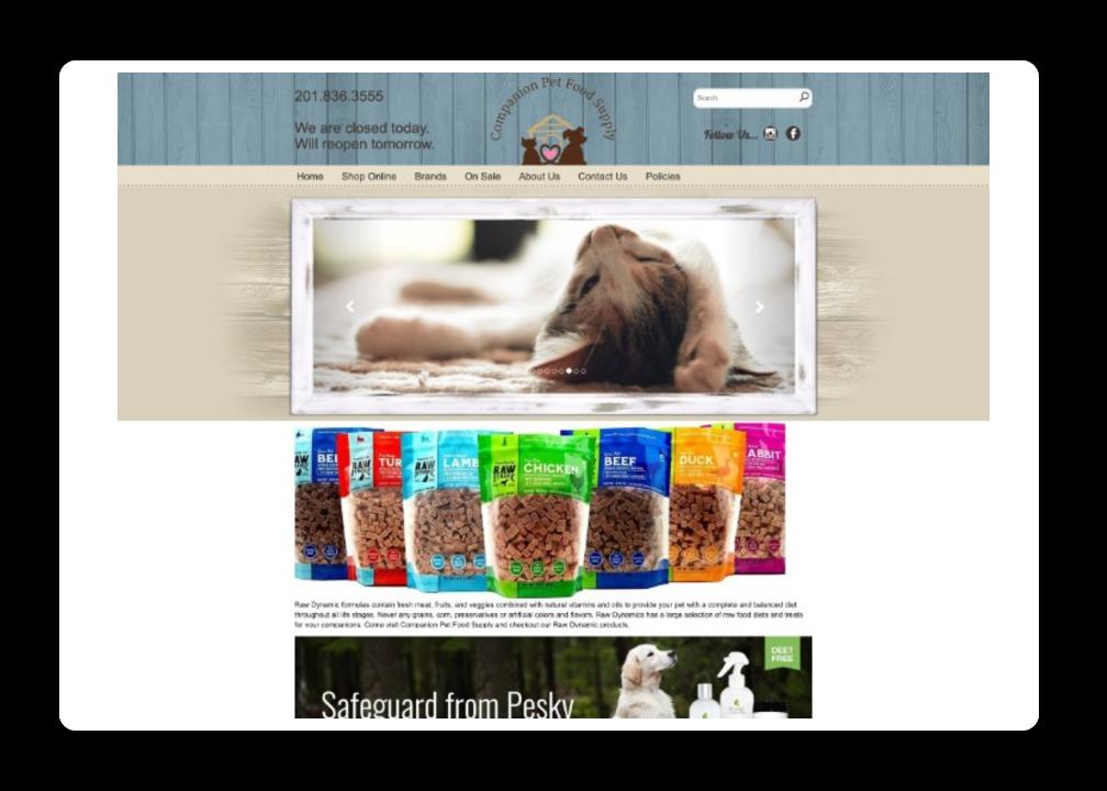 Pet Store Website