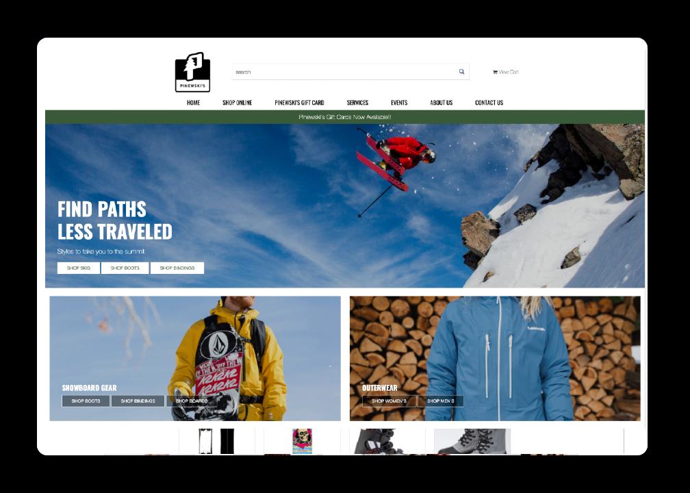 Ski Shop Website