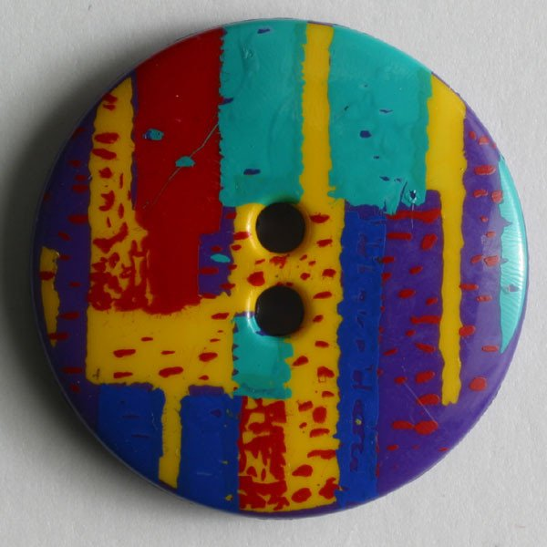 Button -  Abstract Purple, Green, Yellow and Red