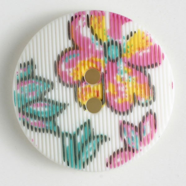 Button - White Polyamide