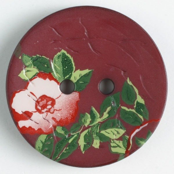 Button - Wine Red Polyamide