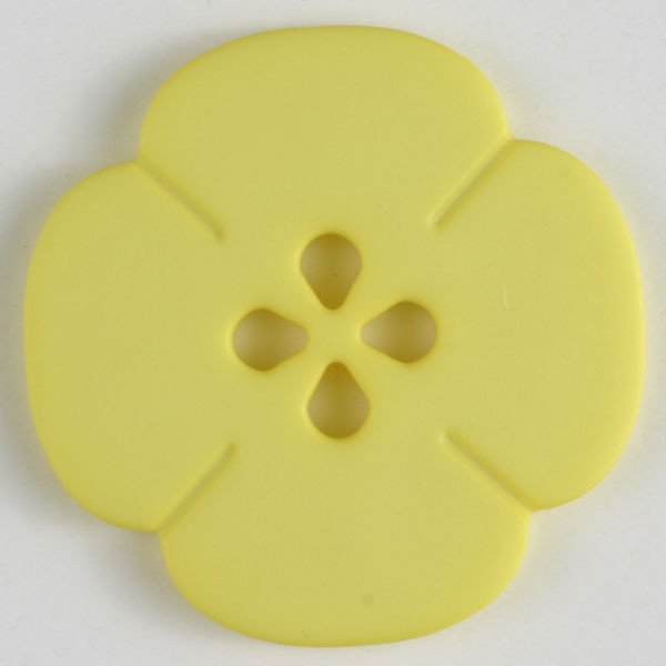 Button -  Yellow Bloom