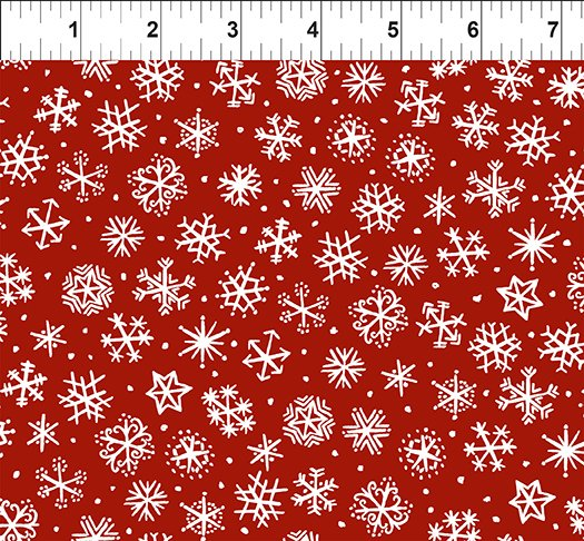 Snowy Snowflakes Red 11JPL 2