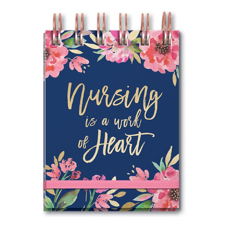 Nursing is a Work of Heart Spiral Notepad
