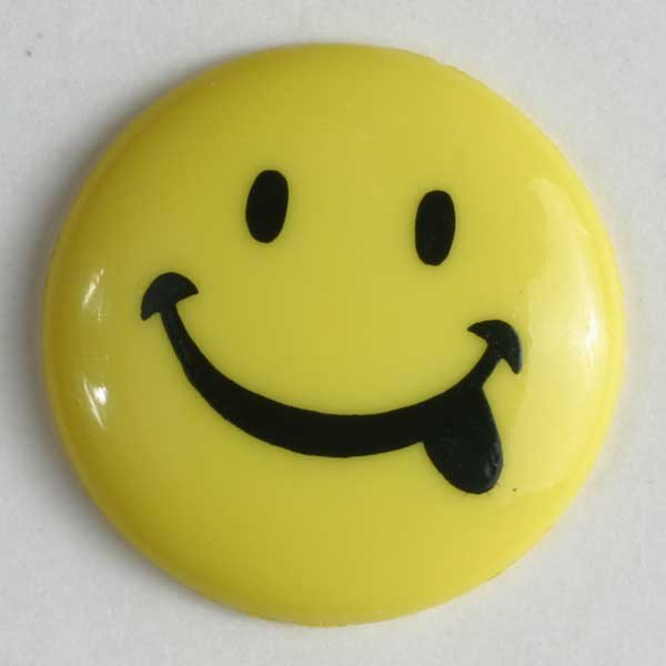 Button -  Yellow Happy Face