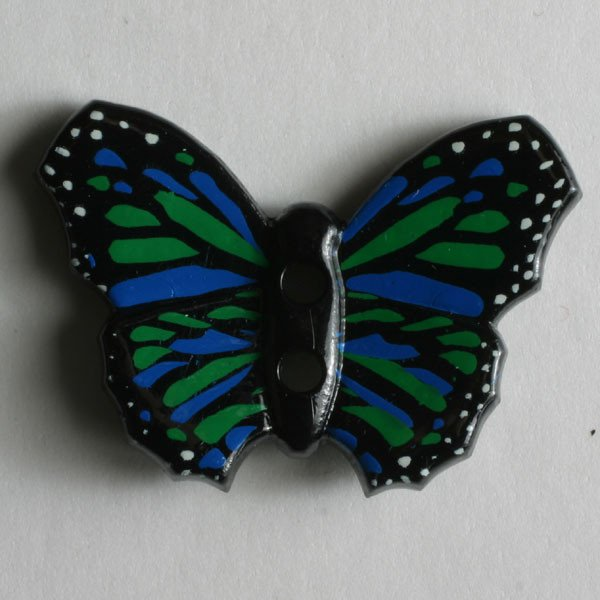 Button - Black Butterfly