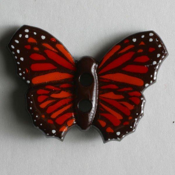 Button -  Brown Butterflies