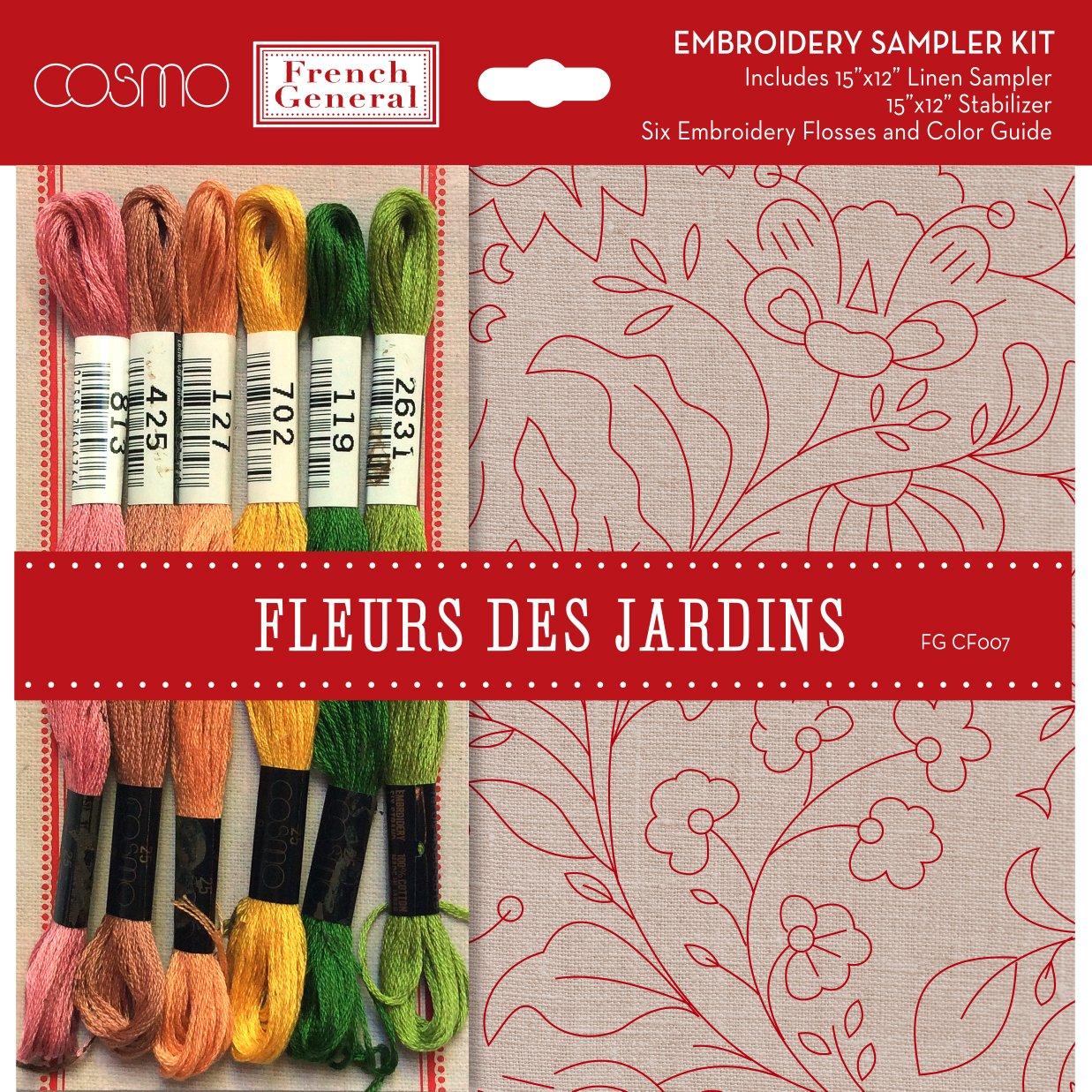 Fleurs De Jardins 15 x 12 CF007