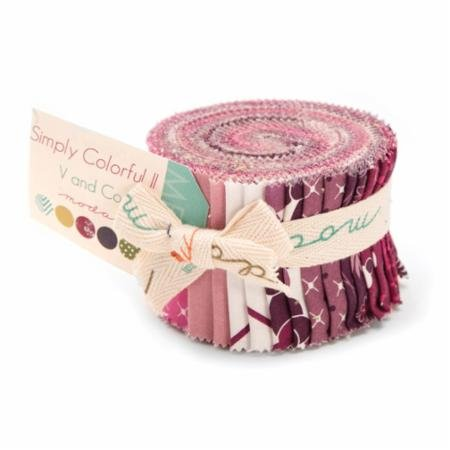 Simply Colorful Junior Jelly Roll II Pink