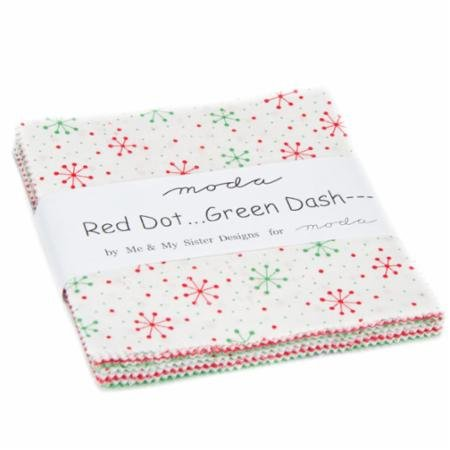 Charm Pack, Red Dot Green Dash