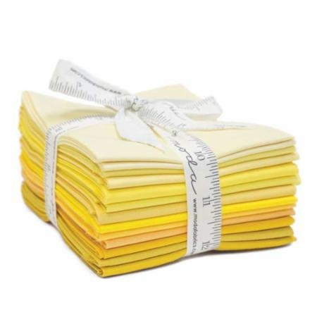 The Colors of Moda Yellow FQ Bundle