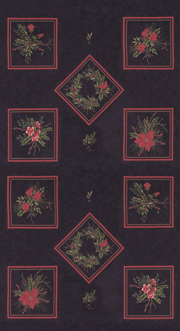 Panel, Winter Manor,  Ebony 6770 17