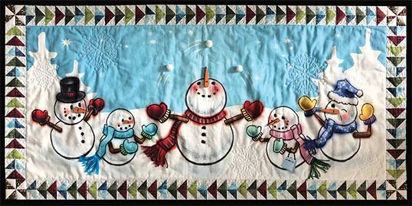Juggling Snowman Digital Quilt Top Kit
