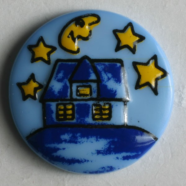 Childrens Novelty Buttons  Royal Blue