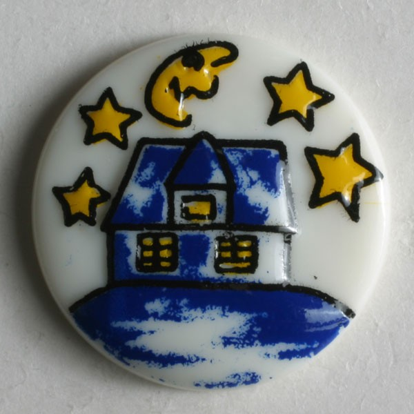 Childrens Novelty Buttons White