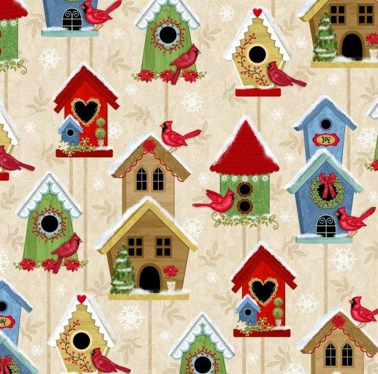 Winter Joy 3803-44 Cream Bird Houses