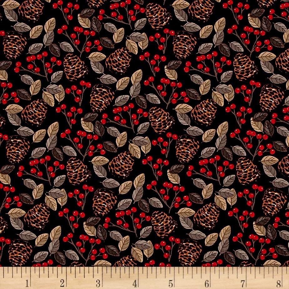 Snow Delightful 3852-99 Pinecones and Berries