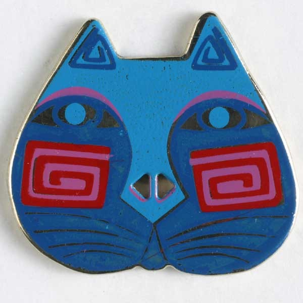 Laurel Burch Cat Face, Button