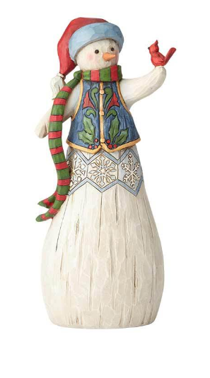 Folklore Snowman with Cardinal 6001445
