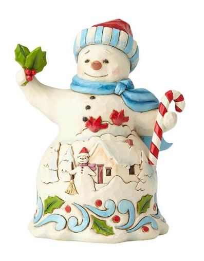Pint Size Snowman with Candy Cane 6001492