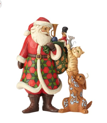 Santa With Stacked Animals 6002729