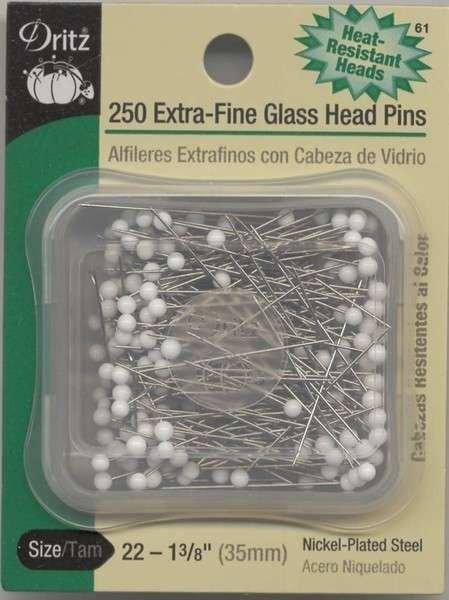Extra Fine Glasshead Pins