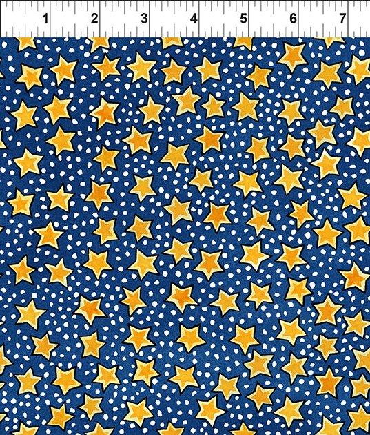 Snowy Stars Blue 6JPL 1