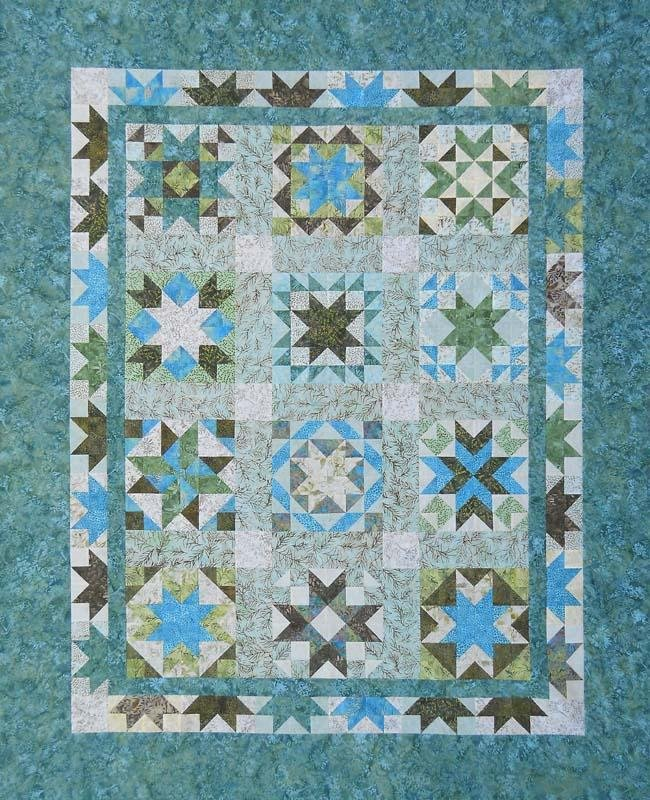 Sea Stars Quilt By Thangles