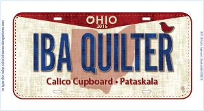 IBA QUILTER Fabric Plate 2016