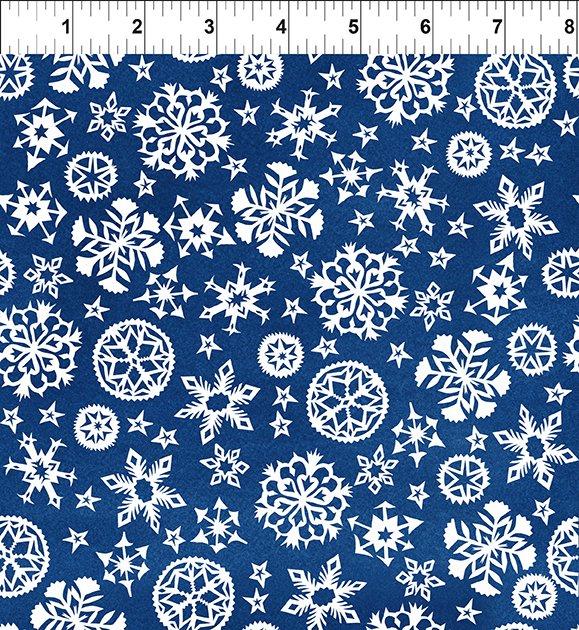 Snowy Snowflakes Blue 7JPL 1